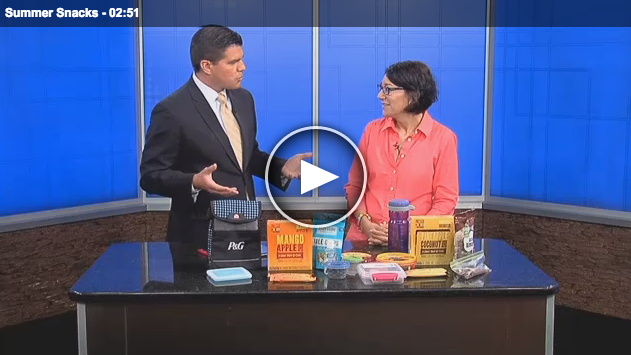 Lisa Andrews, RD on Fox19, with Summer Snacks