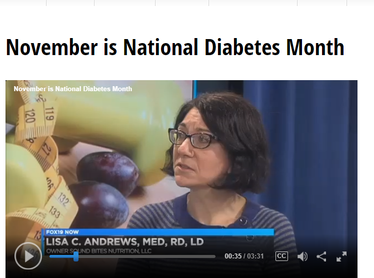 November is National Diabetes Month with Lisa Andrews, RD on Fox19