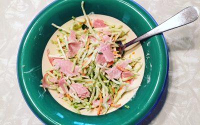 Broccoli slaw and ham