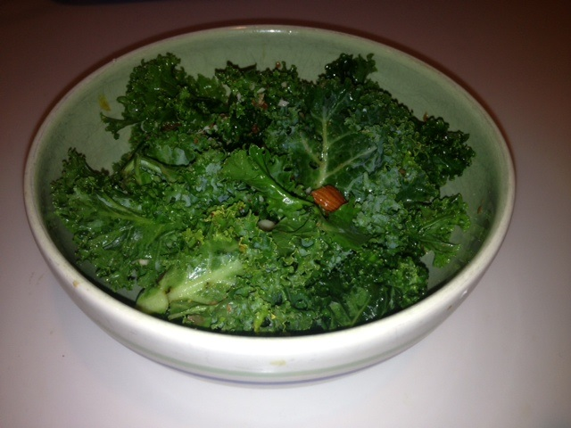 Kale salad with coconut ginger dressing