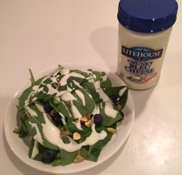 Spinach Blueberry Salad with Mukamame & Pistachios