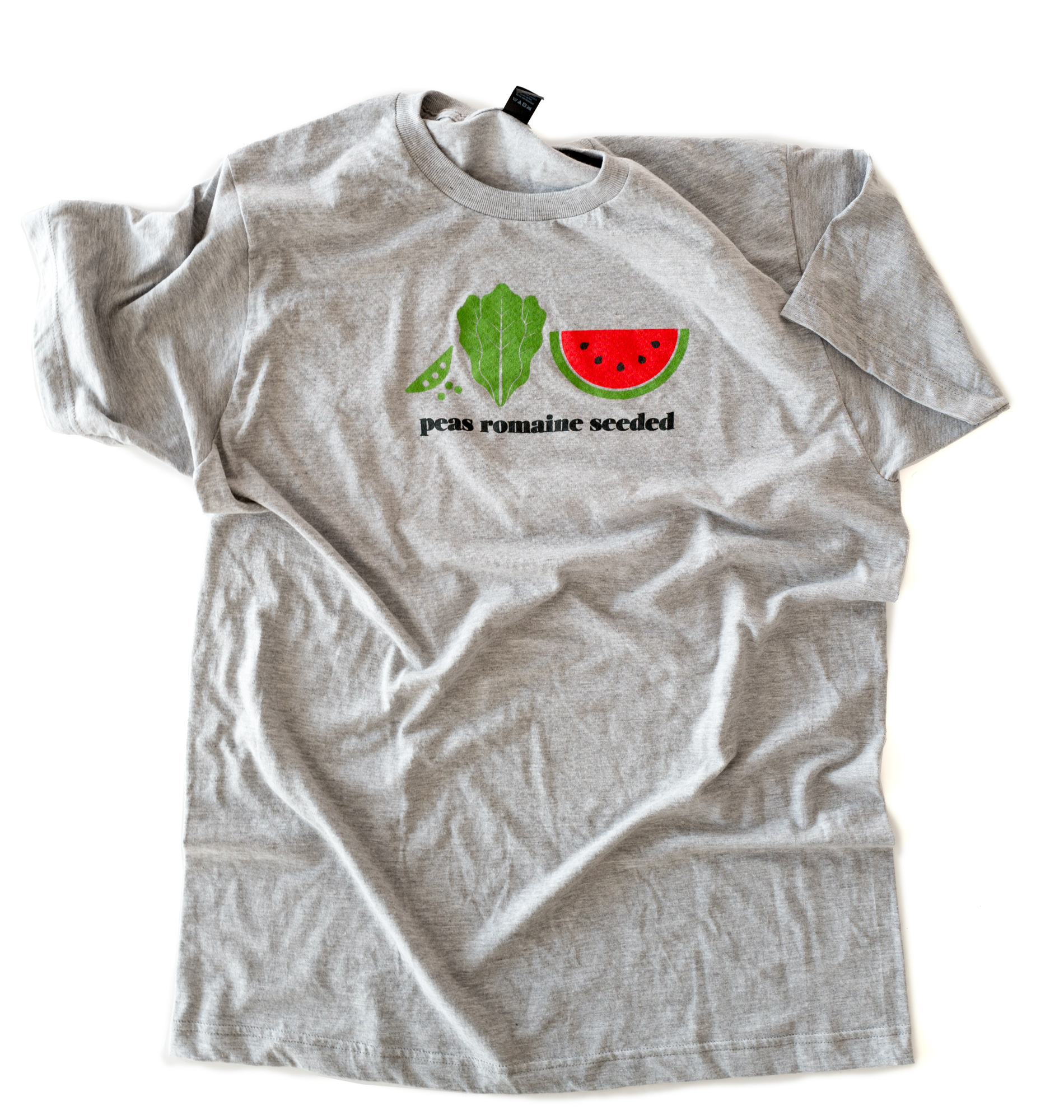 Peas romaine seeded T-shirt designed by Lisa Andrews, RD Sound Bites Nutrition