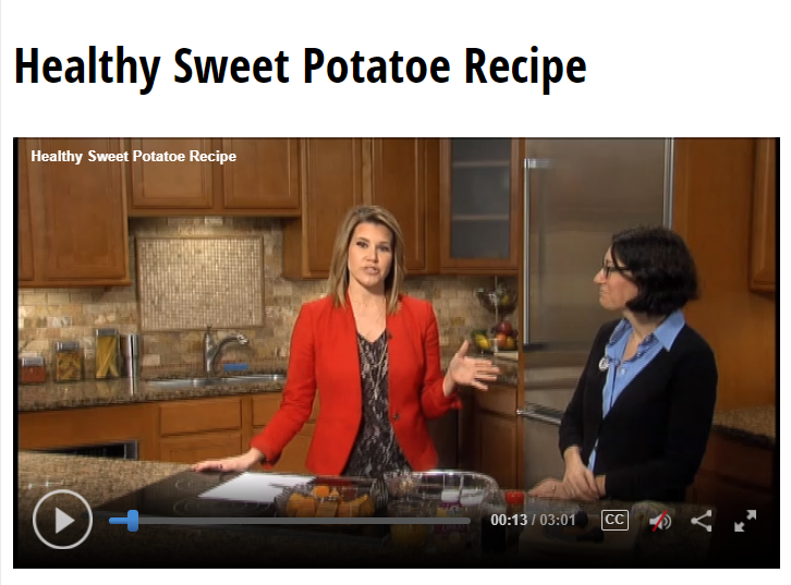 Lisa Andrews, RD on Fox19- Healthy Sweet Potato Recipe