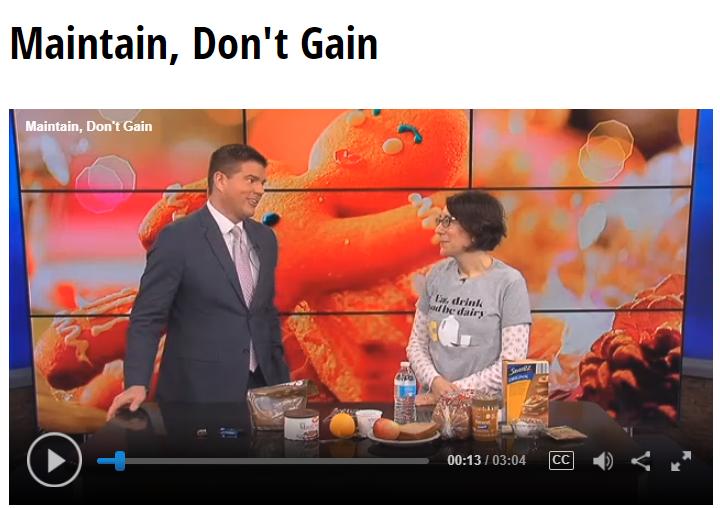 Lisa Andrews, RD on Fox19- Maintain Don't Gain