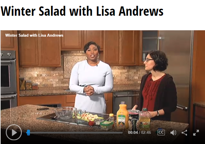 Winter Salad Lisa Andrews, RD on Fox 19
