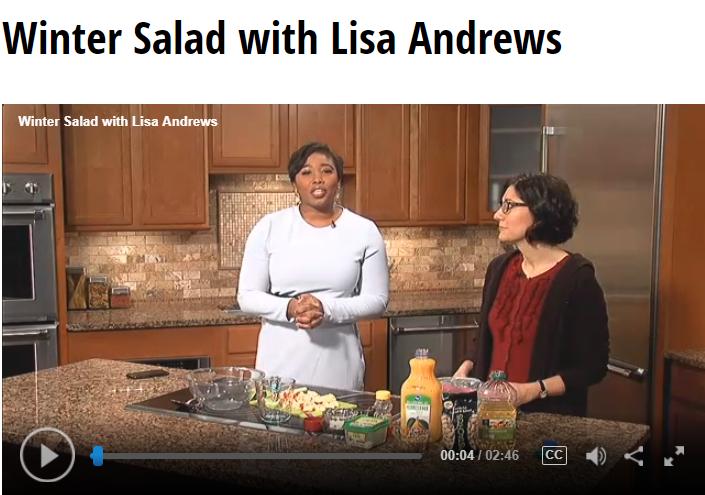 Winter Salad Lisa Andrews, RD on Fox 19