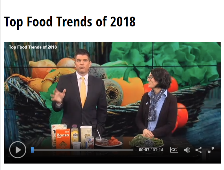 Lisa Andrews, RD on Fox19- Top Food Trends of 2018