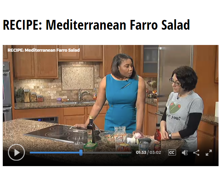 Lisa Andrews, RD on Fox19 Mediterranean Farro Salad