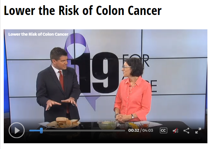 Lisa Andrews, RD on Fox19 Lowering the Risk of Colon Cancer