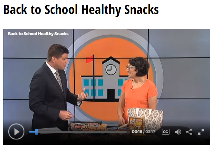 Lisa Andrews, RD on Fox19 Back To School Healthy Snacks