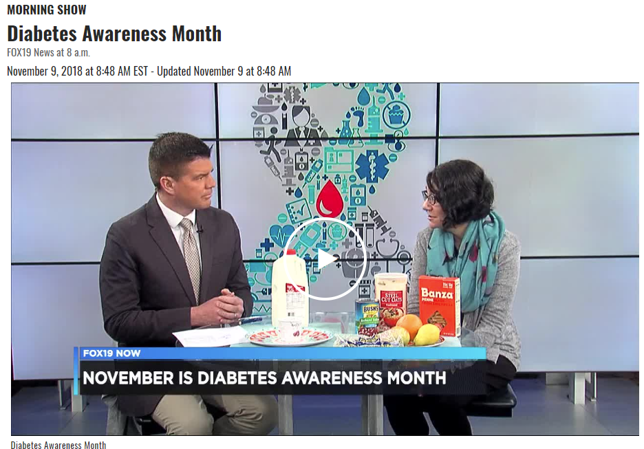 Lisa Andrews, RD, discusses November as Diabetes Awareness Month