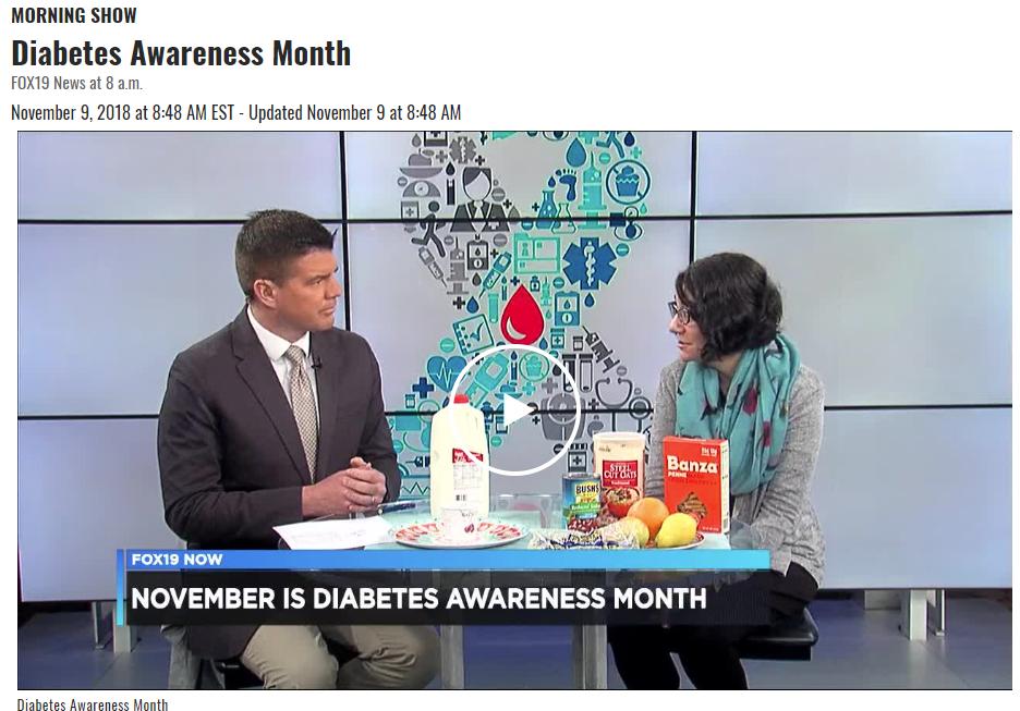 Lisa Andrews, RD, discusses November as Diabetes Awareness Month