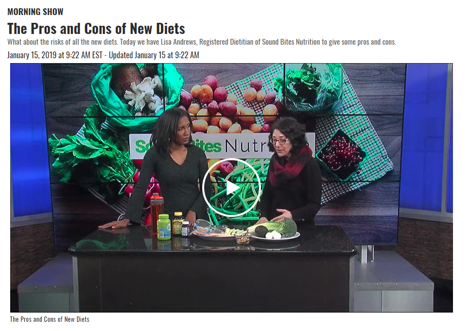 Lisa Andrews, RD, offers some tips on the Pros and Cons of New Diets