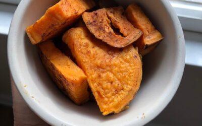 Cinnamon dusted sweet potatoes